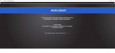 """SayaKenaHack.com""网站已于周四(16日)遭封锁。"
