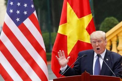 特朗普声称可协助调解南海争议。(法新社照片)