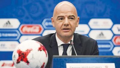 """FIFA主席:""""世界杯若有种族歧视,裁判有权终止比赛。"""""""
