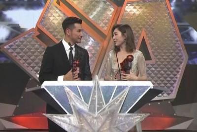 陈展鹏、胡定欣蝉联荧幕情侣奖。