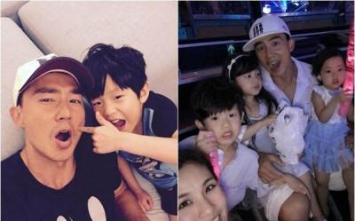 刘畊宏夫妻育有一儿二女。
