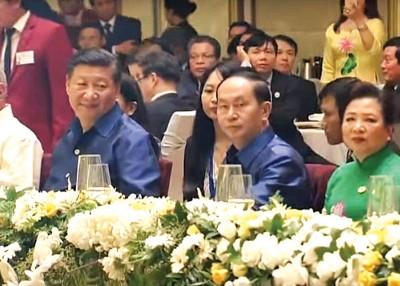 习近平以于越南国家主席陈大光干。