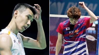 总决赛抽签沒炉,李宗伟再战孙完虎(左)。