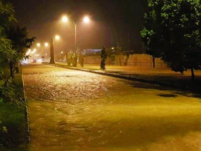 周六晚一场豪雨,造成大年多个低洼区先后泛滥成灾。
