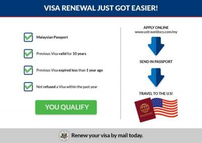 美国驻马大使馆推出让符合资格者可以通过邮寄方式更新签证的服务
