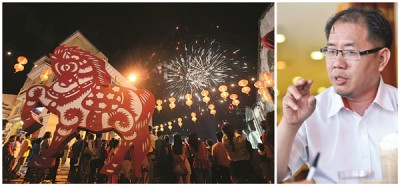 2018年庙会已成型,黄伟益(右图)发生信心以发生更多会馆家会回归,获更大民间助力。