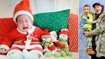 应采儿在微博贴有儿子Jasper的赤子照。陈小春带着Japser一齐上《父亲去哪儿5》,父子俩意外走红。