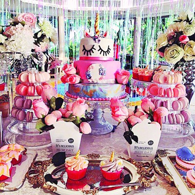 亚洲城ca88手机版官网2岁的生日派对布置华丽。