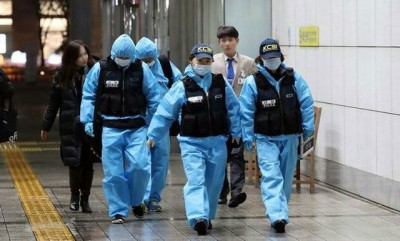 韩国国立科学调查研究院派出调查员前往医院验尸。