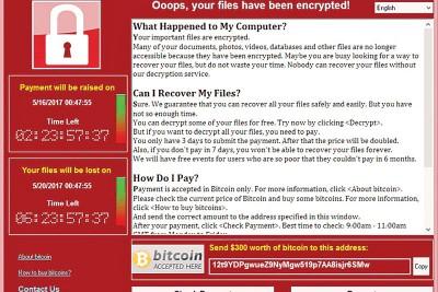 """数十万部电脑早前遭""""WannaCry""""攻击。"""
