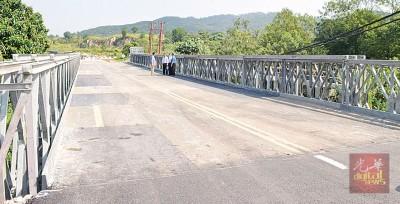 公路使用者从明天开始即可使用临时桥往返两地。