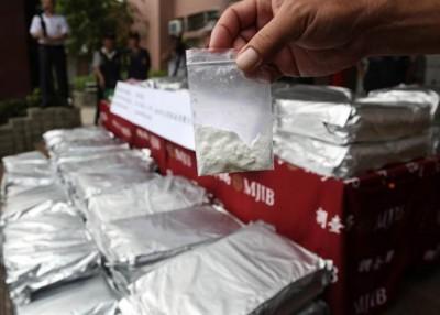 澎湖县城警方以涉事中国渔船上,收缴500公斤的冰毒。