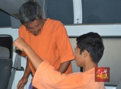 2何谓嫌犯被押上警车离开法庭。