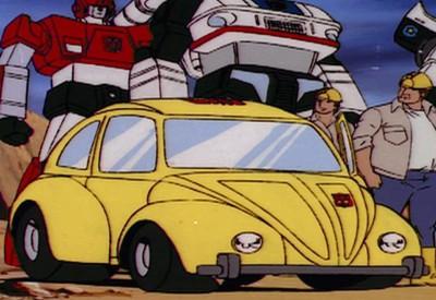 80年代初代《变形金刚》动画中,大黄蜂的经典大众甲虫车外型。