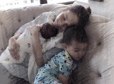 """侯佩岑分享为母心情,""""人生再也没有更多的愿望,只祈求孩子健康平安""""。"""