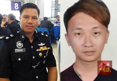 (左图)阿斯蒙:警方扣查一名26岁非华裔男子助查24岁收账员失踪案。(右图)警方不排除本月3日失踪的周佳俊可能是假扮失踪。