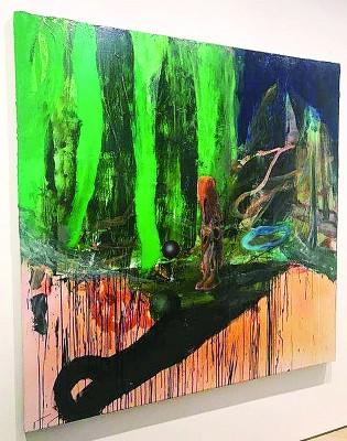 已故韩裔艺术大师白南准的作品《雄鹿》。