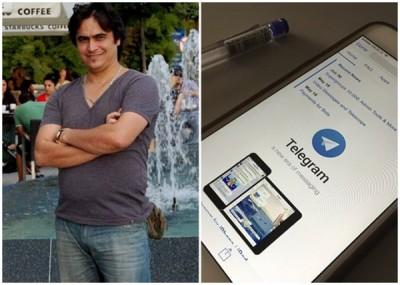 扎姆(左图)啊该新闻网络在Telegram设立频道。
