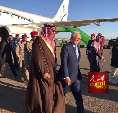首相纳吉办公室发表声明,官访沙地之行是受沙地国王之邀,亲友随行是方便朝圣行程安排,皆是自费。