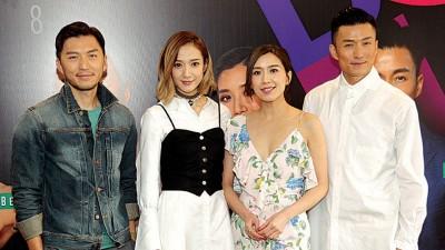 袁伟豪、王君馨、黄智雯、陈山聪以记者会上分享彼此合作之发和对方的长处。