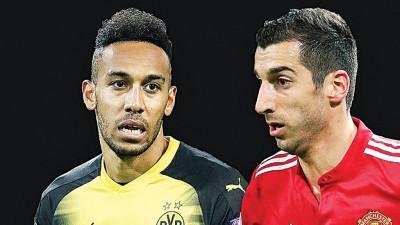 奥巴梅扬(左)和姆希塔良(右)同赴伦敦加盟阿仙纳?