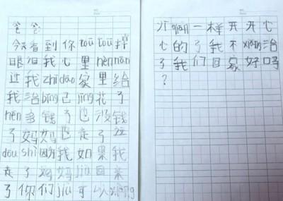 张佳晖来信给大人,可望为团结之很易母亲回家。