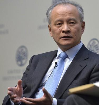 华夏驻美大使崔天凯强调,韩朝是否统一在于公民愿。