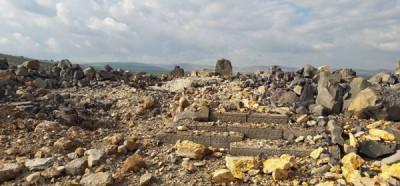 安达拉神庙遭空袭,严重损毁。