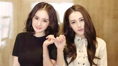 杨幂(左)啊颇旗下艺人迪丽热巴(右)黄8亿人民币。