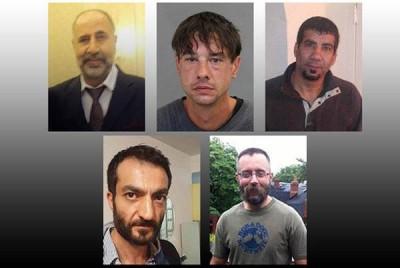 5名疑遭麦克阿瑟杀害的男子。