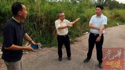 陈俊豪(左)及骆政澲(左2)希望黄思敏为居民伸张正义。