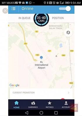 """优质步及GrabCar司机无需守在航站范围里,据悉""""排队系统""""等乘客呼叫载送服务。"""