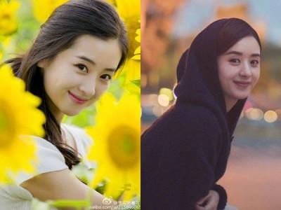 李可(左)看上去与赵丽颖(右)有几分相似。