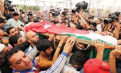 去年7月23天在以色列驻约旦使馆来之枪击事件导致2称约旦人口亡。