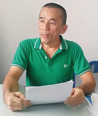 郑雨周表示已无权处理20万令吉的选区拨款,若民众有需要可向再里尔申请。