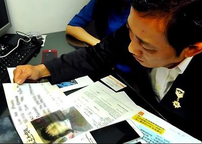 林华正与收账员对话,警告泼漆手法已构成刑事罪。
