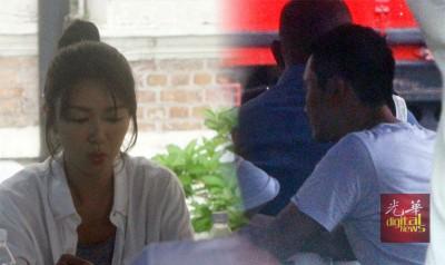 《蚀日风暴》阳女主角张智霖同薛凯琪26天中午现身吉隆坡原有法庭拍摄,个别人口于等下一场戏时,共同玩牌打发时间。
