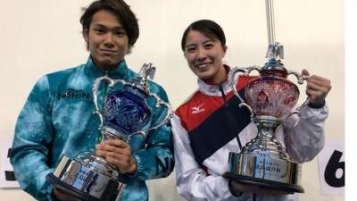 中村克同桥梁悠依获得了此次比赛的超级男女运动员荣誉。