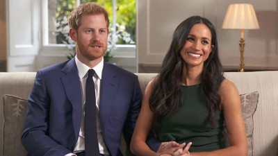 哈里(左)跟梅根(右)以给5月结婚。