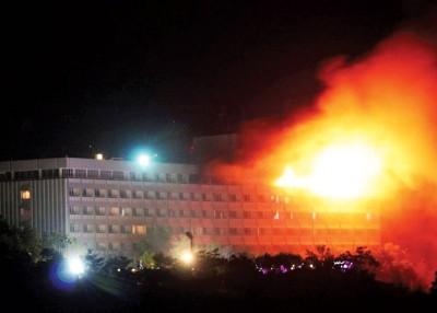 阿富汗首都喀布尔洲际酒店遭到武装分子袭击。