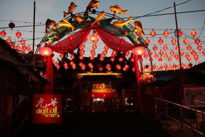 万脚兰蛇庙亮起千盏灯迎接新春。