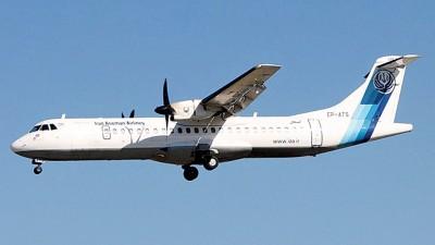 注册编号EP3704的ATR 72种客机失事。