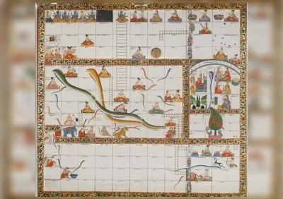 满印度宗教元素的蛇梯棋盘,抓住一多艺术爱好者目光。