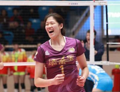 中国女排新星李盈莹。
