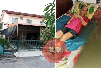 (左图)感恩之家在新港的新住所空间更广,可容纳22名老人。(右图)感恩之家于去年9月时面对严重水灾,导致部分老人们被浸泡水中。(档案照)