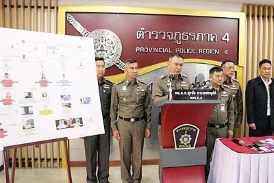 泰国警方宣布破获一个以台湾人为首的诈骗集团。
