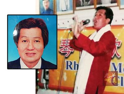 红衣白围巾,是林汉炎每年参加新年歌唱比赛时最爱穿的比赛服。