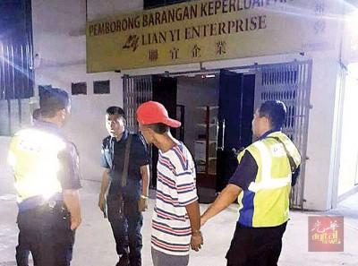 警方接获投报后赶到事发地点调查。