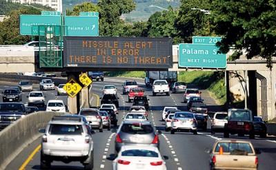 夏威夷上月误发导弹威胁警报,较后才澄清。