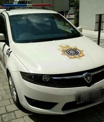 """""""中国警车""""在布城出现,引发不满言论。"""